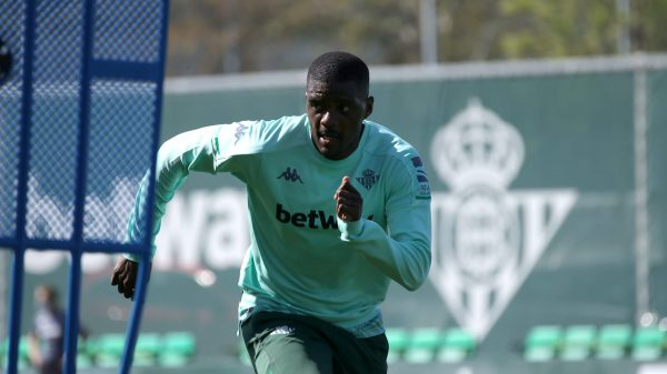 William Carvalho en un entrenamiento